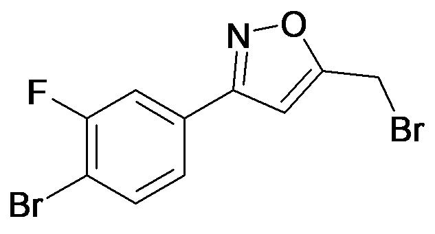 3-(4-Bromo-3-fluoro-phenyl)-5-bromomethyl-isoxazole