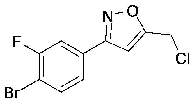 3-(4-Bromo-3-fluoro-phenyl)-5-chloromethyl-isoxazole