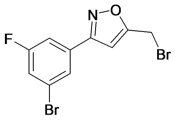 3-(3-Bromo-5-fluoro-phenyl)-5-bromomethyl-isoxazole