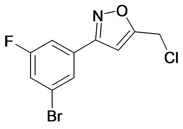 3-(3-Bromo-5-fluoro-phenyl)-5-chloromethyl-isoxazole