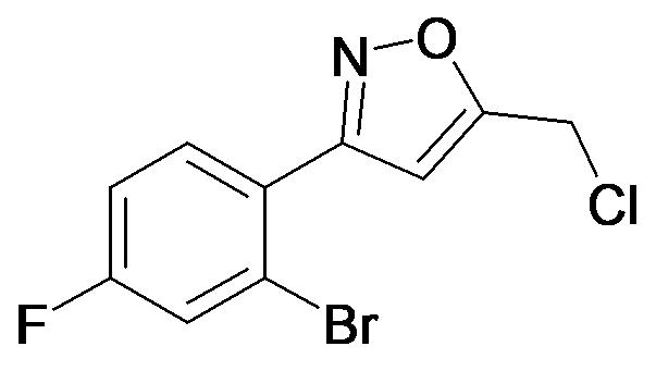 3-(2-Bromo-4-fluoro-phenyl)-5-chloromethyl-isoxazole