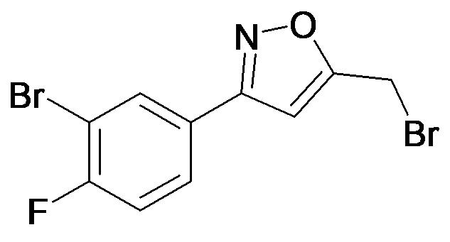 3-(3-Bromo-4-fluoro-phenyl)-5-bromomethyl-isoxazole