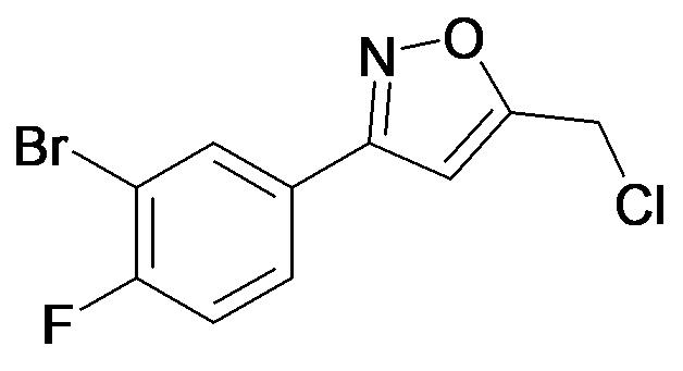 3-(3-Bromo-4-fluoro-phenyl)-5-chloromethyl-isoxazole