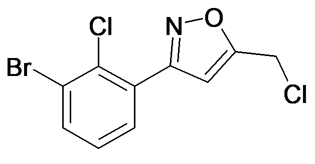 3-(3-Bromo-2-chloro-phenyl)-5-chloromethyl-isoxazole