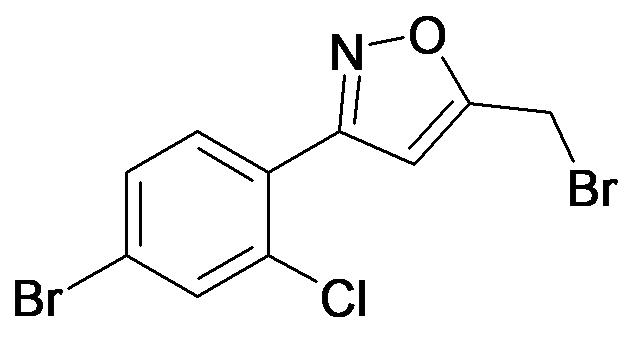 3-(4-Bromo-2-chloro-phenyl)-5-bromomethyl-isoxazole