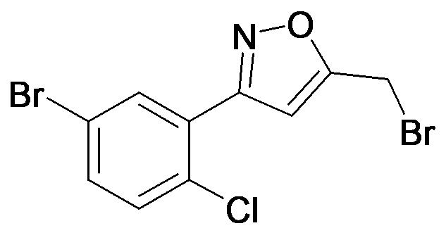3-(5-Bromo-2-chloro-phenyl)-5-bromomethyl-isoxazole