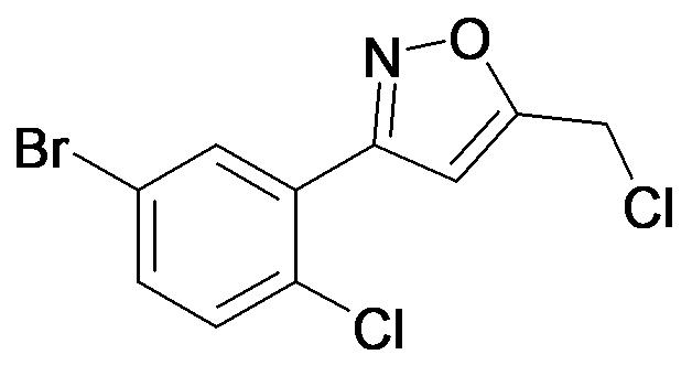 3-(5-Bromo-2-chloro-phenyl)-5-chloromethyl-isoxazole