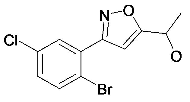 1-[3-(2-Bromo-5-chloro-phenyl)-isoxazol-5-yl]-ethanol