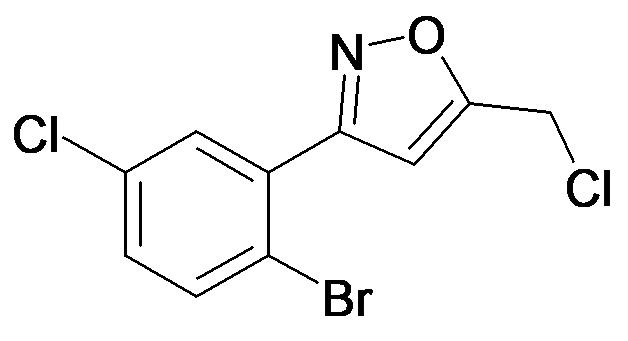 3-(2-Bromo-5-chloro-phenyl)-5-chloromethyl-isoxazole