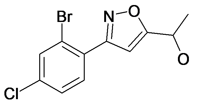 1-[3-(2-Bromo-4-chloro-phenyl)-isoxazol-5-yl]-ethanol