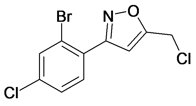 3-(2-Bromo-4-chloro-phenyl)-5-chloromethyl-isoxazole