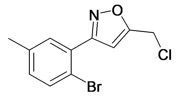 3-(2-Bromo-5-methyl-phenyl)-5-chloromethyl-isoxazole