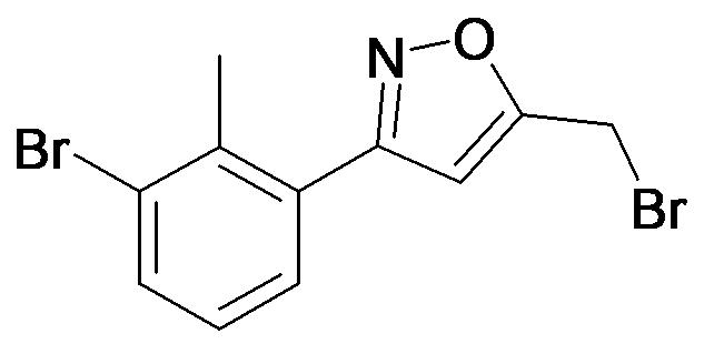 5-Bromomethyl-3-(3-bromo-2-methyl-phenyl)-isoxazole