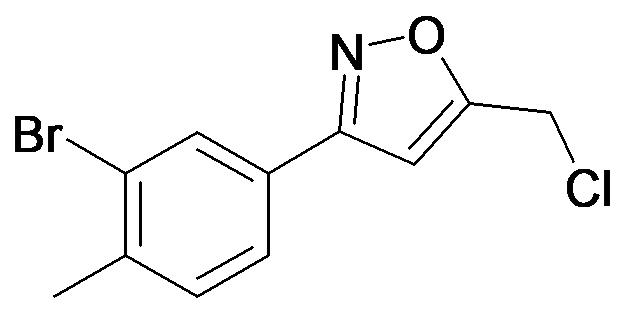3-(3-Bromo-4-methyl-phenyl)-5-chloromethyl-isoxazole