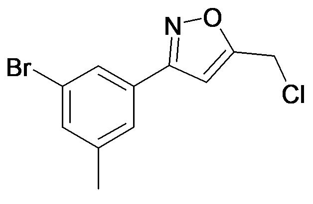 3-(3-Bromo-5-methyl-phenyl)-5-chloromethyl-isoxazole