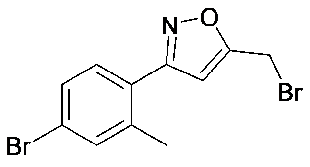 5-Bromomethyl-3-(4-bromo-2-methyl-phenyl)-isoxazole