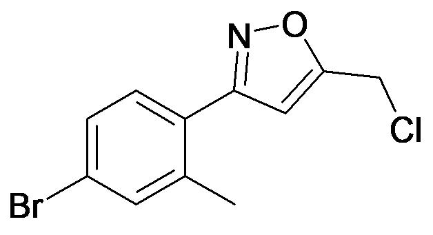 3-(4-Bromo-2-methyl-phenyl)-5-chloromethyl-isoxazole