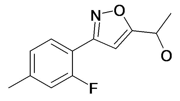 1-[3-(2-Fluoro-4-methyl-phenyl)-isoxazol-5-yl]-ethanol