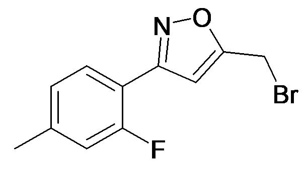 5-Bromomethyl-3-(2-fluoro-4-methyl-phenyl)-isoxazole