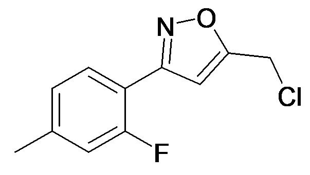 5-Chloromethyl-3-(2-fluoro-4-methyl-phenyl)-isoxazole