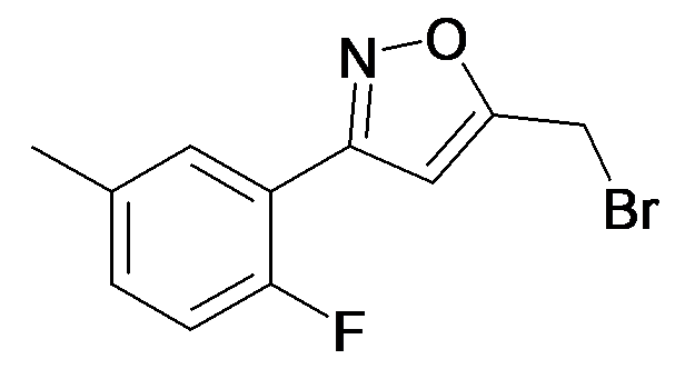5-Bromomethyl-3-(2-fluoro-5-methyl-phenyl)-isoxazole