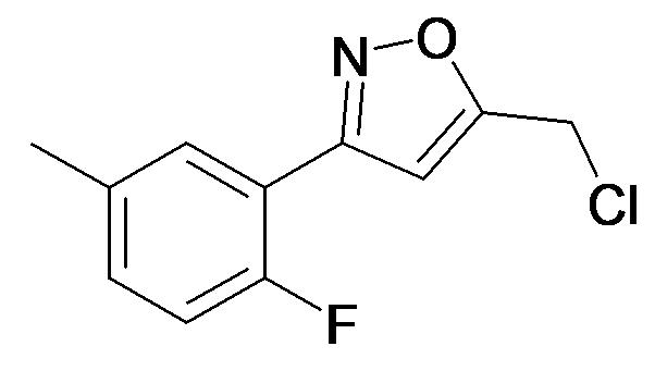 5-Chloromethyl-3-(2-fluoro-5-methyl-phenyl)-isoxazole