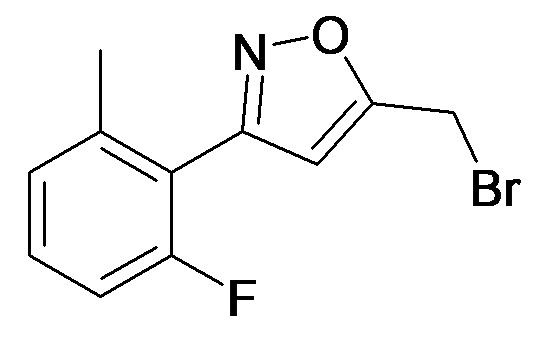 5-Bromomethyl-3-(2-fluoro-6-methyl-phenyl)-isoxazole