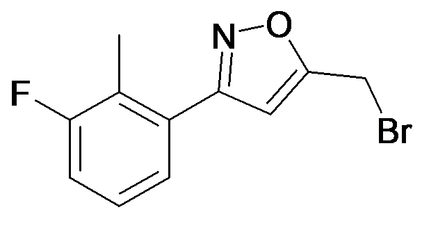 5-Bromomethyl-3-(3-fluoro-2-methyl-phenyl)-isoxazole