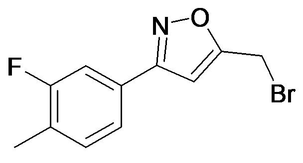 5-Bromomethyl-3-(3-fluoro-4-methyl-phenyl)-isoxazole
