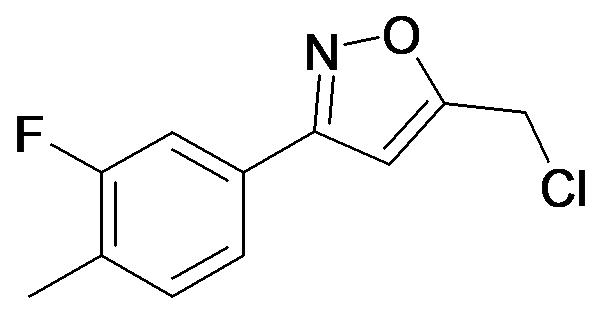 5-Chloromethyl-3-(3-fluoro-4-methyl-phenyl)-isoxazole