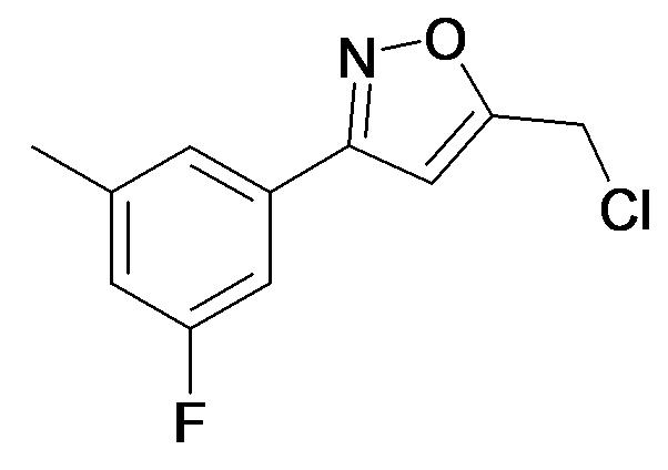5-Chloromethyl-3-(3-fluoro-5-methyl-phenyl)-isoxazole