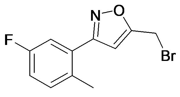5-Bromomethyl-3-(5-fluoro-2-methyl-phenyl)-isoxazole