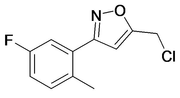 5-Chloromethyl-3-(5-fluoro-2-methyl-phenyl)-isoxazole