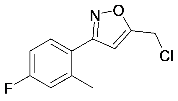 5-Chloromethyl-3-(4-fluoro-2-methyl-phenyl)-isoxazole