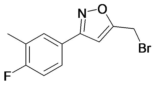 5-Bromomethyl-3-(4-fluoro-3-methyl-phenyl)-isoxazole