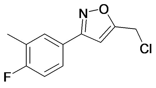 5-Chloromethyl-3-(4-fluoro-3-methyl-phenyl)-isoxazole