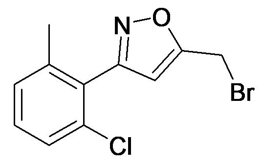 5-Bromomethyl-3-(2-chloro-6-methyl-phenyl)-isoxazole