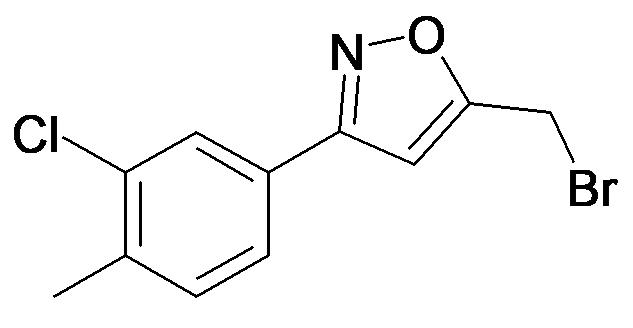 5-Bromomethyl-3-(3-chloro-4-methyl-phenyl)-isoxazole