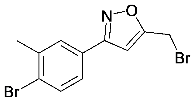 5-Bromomethyl-3-(4-bromo-3-methyl-phenyl)-isoxazole