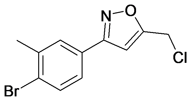 3-(4-Bromo-3-methyl-phenyl)-5-chloromethyl-isoxazole