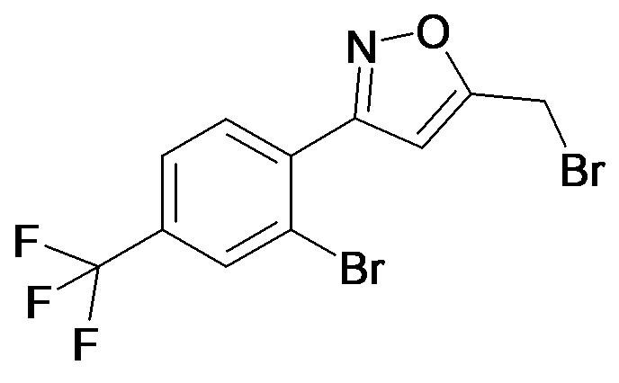 5-Bromomethyl-3-(2-bromo-4-trifluoromethyl-phenyl)-isoxazole