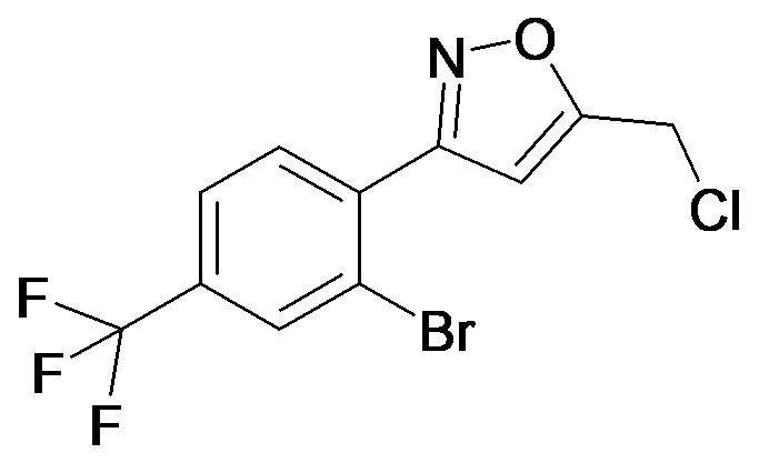3-(2-Bromo-4-trifluoromethyl-phenyl)-5-chloromethyl-isoxazole