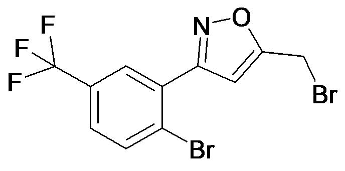 5-Bromomethyl-3-(2-bromo-5-trifluoromethyl-phenyl)-isoxazole