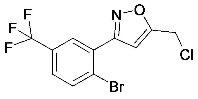 3-(2-Bromo-5-trifluoromethyl-phenyl)-5-chloromethyl-isoxazole
