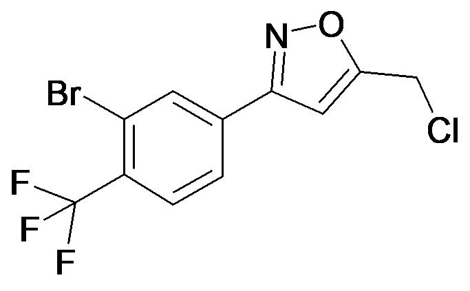 3-(3-Bromo-4-trifluoromethyl-phenyl)-5-chloromethyl-isoxazole