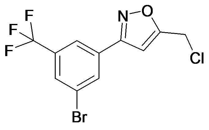 3-(3-Bromo-5-trifluoromethyl-phenyl)-5-chloromethyl-isoxazole