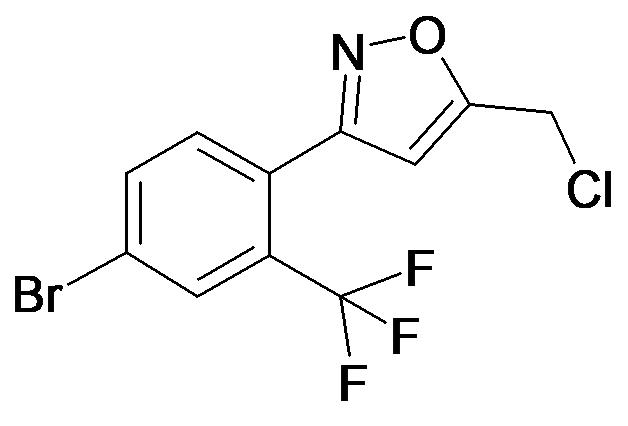 3-(4-Bromo-2-trifluoromethyl-phenyl)-5-chloromethyl-isoxazole