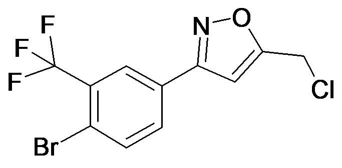 3-(4-Bromo-3-trifluoromethyl-phenyl)-5-chloromethyl-isoxazole
