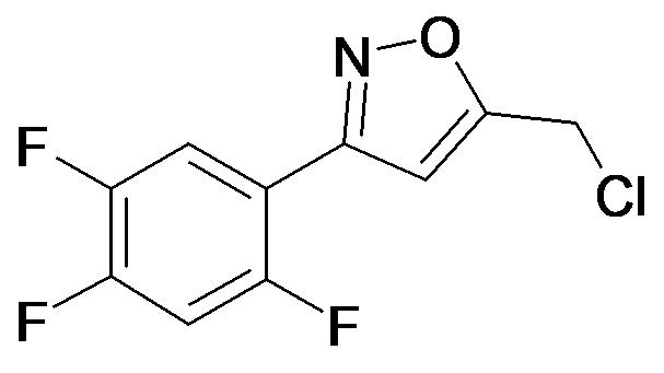 5-Chloromethyl-3-(2,4,5-trifluoro-phenyl)-isoxazole