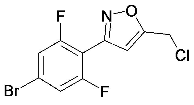 3-(4-Bromo-2,6-difluoro-phenyl)-5-chloromethyl-isoxazole